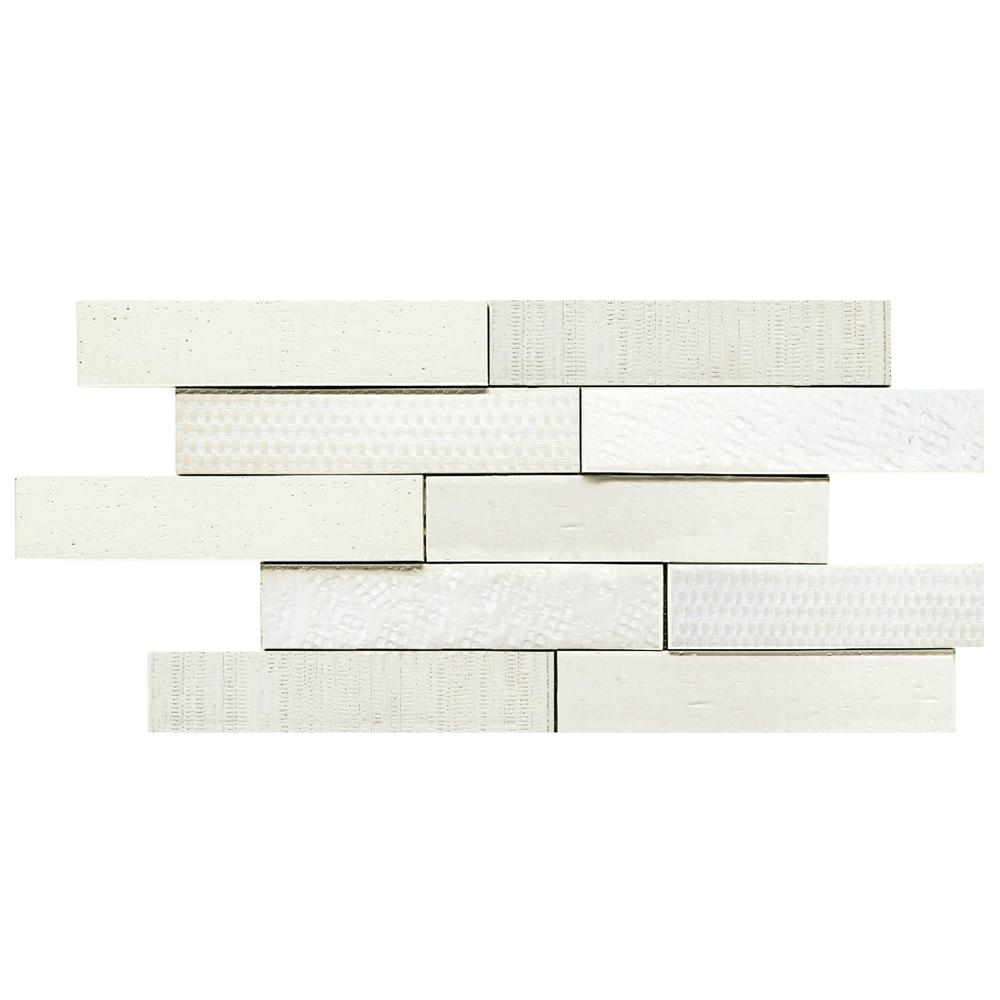 Merola Tile Tira Mattone Valge 2 in. x 9-1/2 in. Porcelain Wall Tile (1.4 sq. ft. / pack)