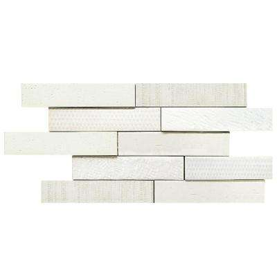 Tira Mattone Valge 2 in. x 9-1/2 in. Porcelain Wall Tile (1.4 sq. ft. / pack)