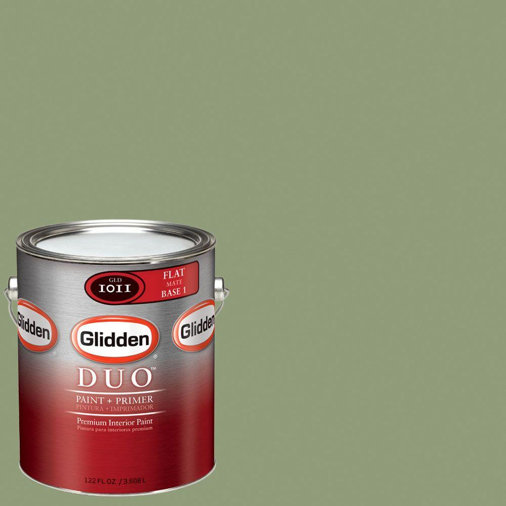 Glidden DUO Martha Stewart Living 1-gal. #MSL106-01F Beryl Flat Interior Paint with Primer - DISCONTINUED
