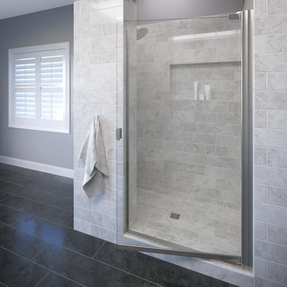 Armon 30-1/8 in. x 66 in. Semi-Frameless Pivot Shower Door in