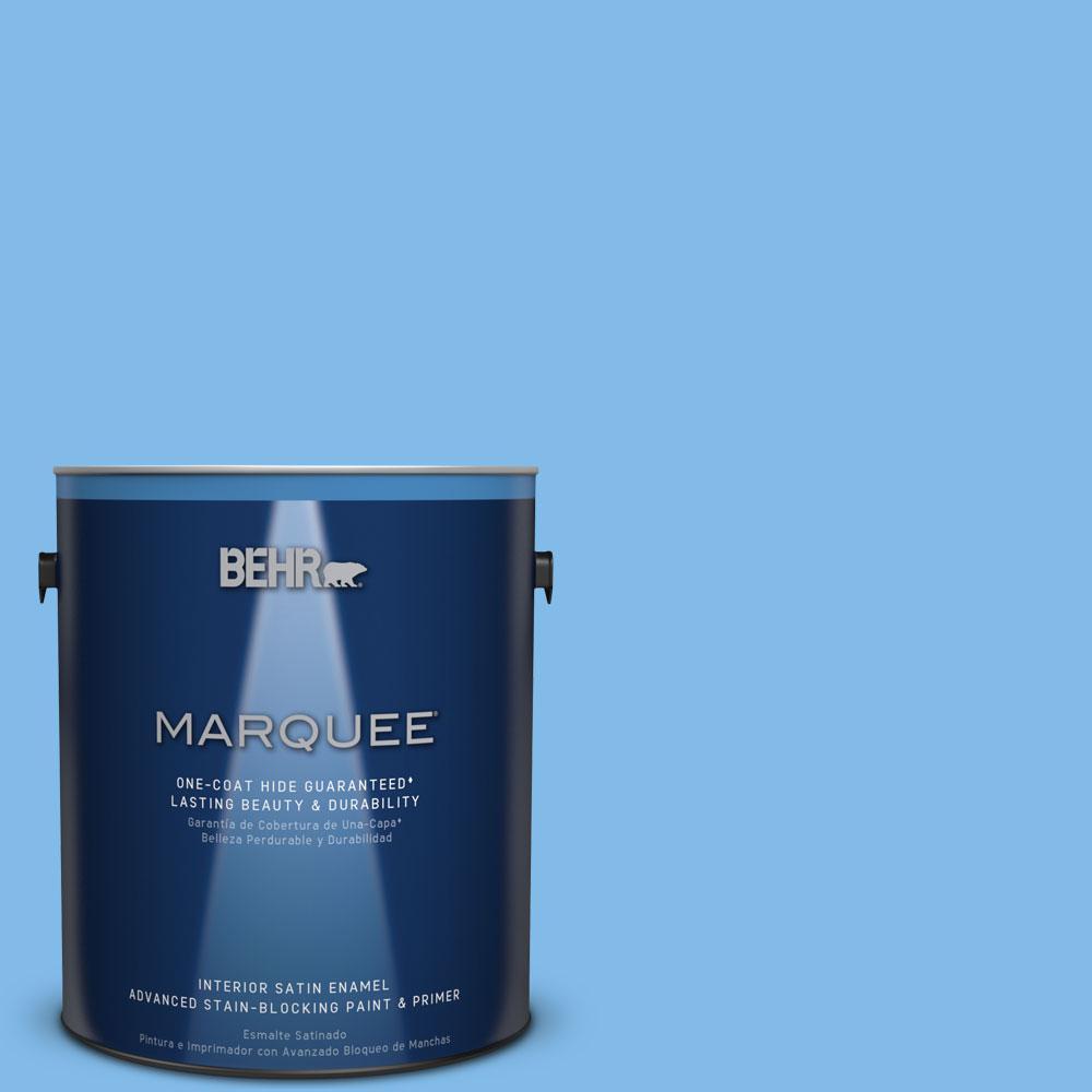 1 gal. #MQ4-27 C'Est La Vie One-Coat Hide Satin Enamel Interior Paint