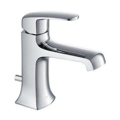 Ella Single Hole 1-Handle 1.2 GPM CALGreen Bathroom Faucet in Chrome