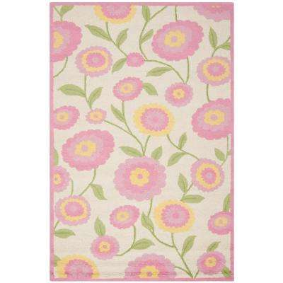 Glam Nursery Pink Kids Rugs Rugs The Home Depot