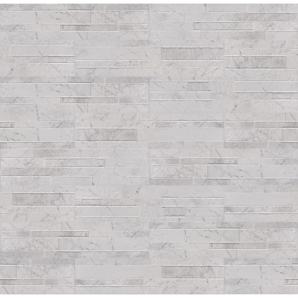 Carrara White Ledger Panel 6 in. x 24 in. Matte Porcelain Wall Tile (11 sq. ft. / case)