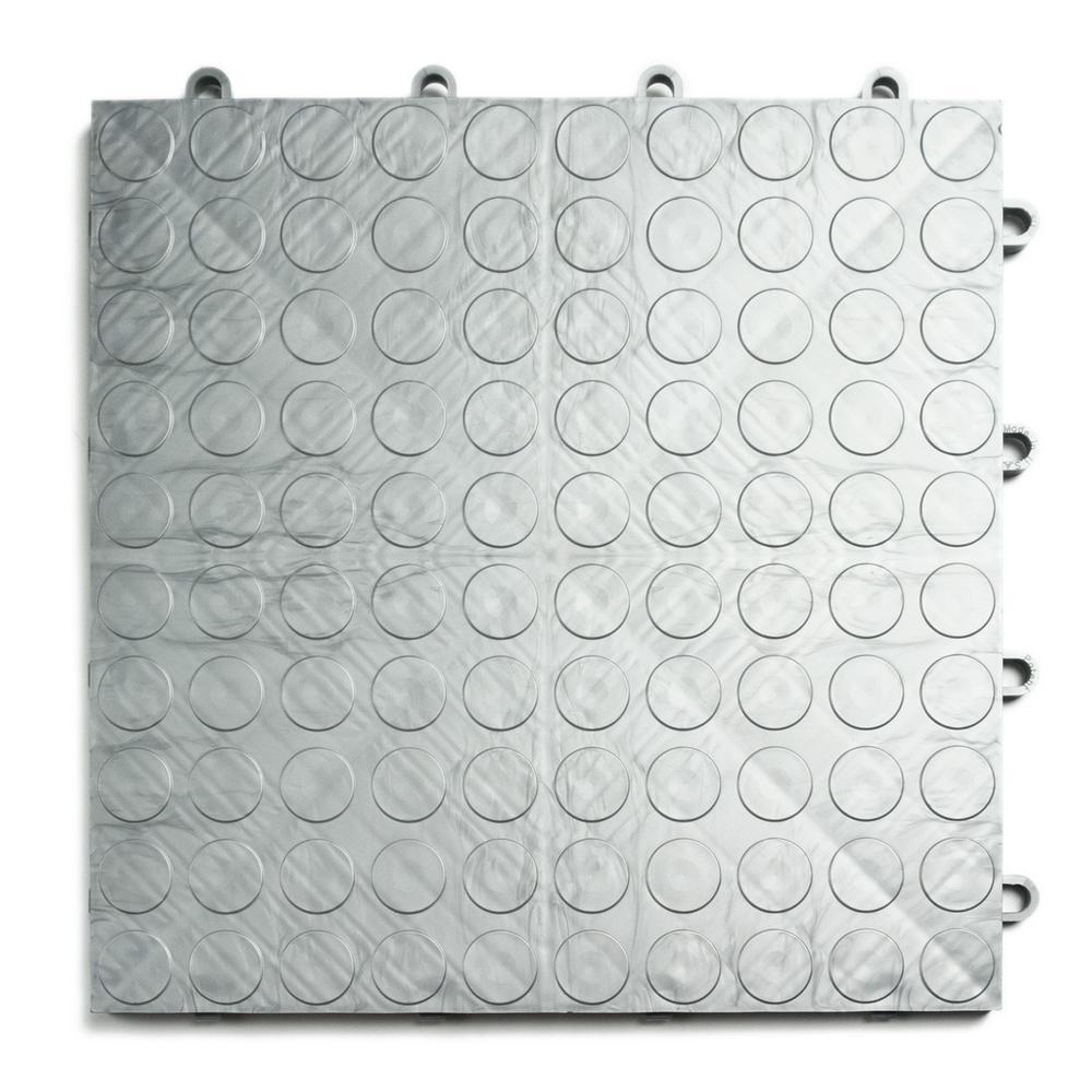MotorDeck 12 in. x 12 in. Coin Alloy Modular Tile Garage Flooring (24-Pack)