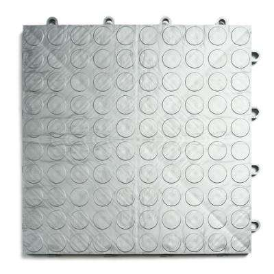 12 in. x 12 in. Coin Alloy Modular Tile Garage Flooring (24-Pack)
