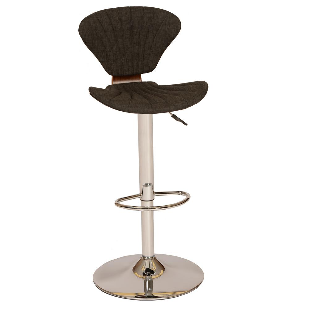 modern swivel bar stools. Charcoal Fabric And Chrome Finish Modern Swivel Barstool Bar Stools