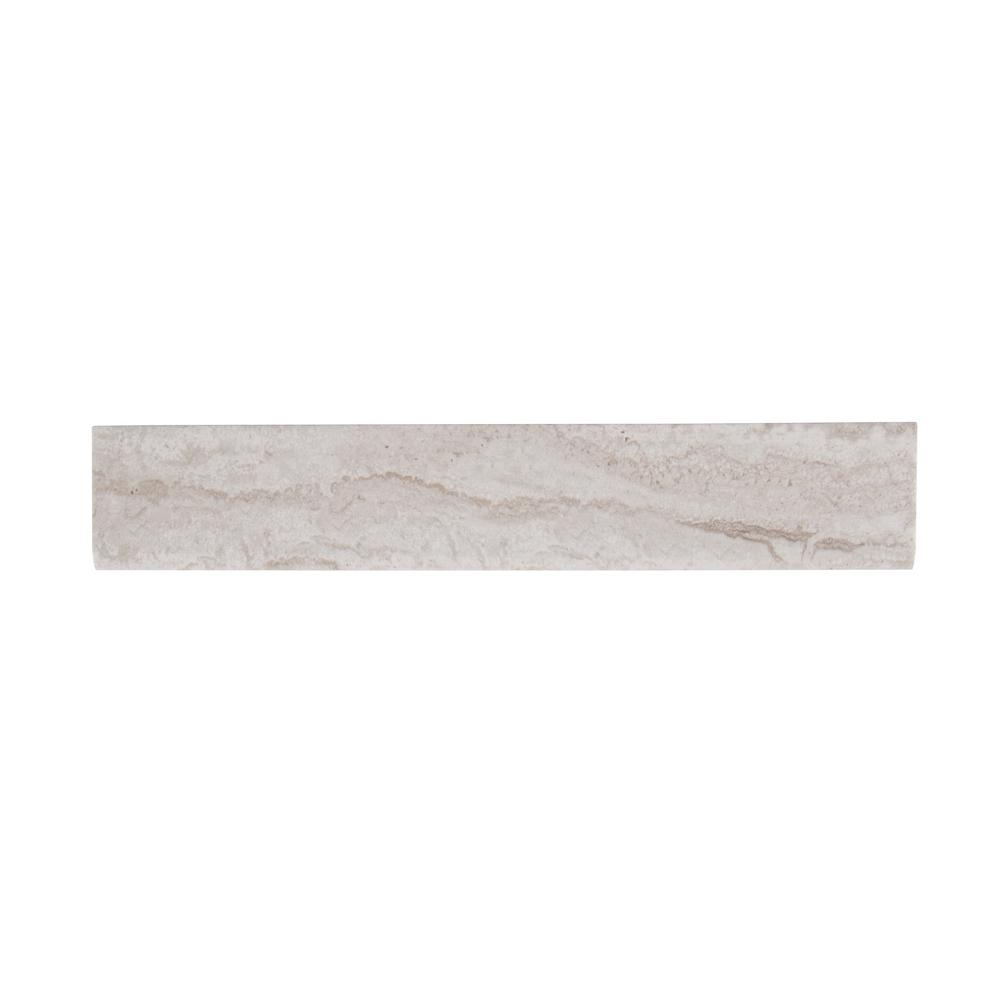 Cotto Talc 3 in. x 18 in. Glazed Porcelain Bullnose Wall