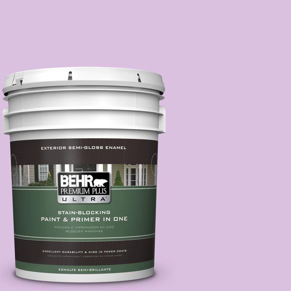 BEHR Premium Plus Ultra 5-gal. #P100-3 Epiphany Semi-Gloss Enamel Exterior Paint