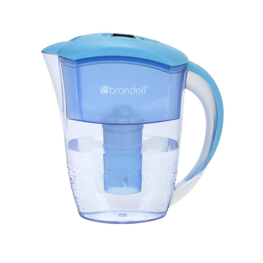 Brondell H2O+ 6 Cup Water Filtration Pitcher in Blue