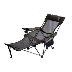 ORE International 35 inch H Portable Slate Grey Mesh Lounger Reclining Chair by ORE International