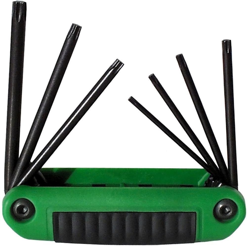 Security Series Ergo-Fold Fold-up Set with Ergonomic Handle Torx Sizes T10 T40 (7-Piece)