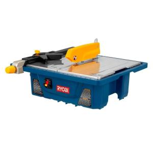Ryobi 3 4 Hp 7 In Wet Tile Saw Ws7211 The Home Depot