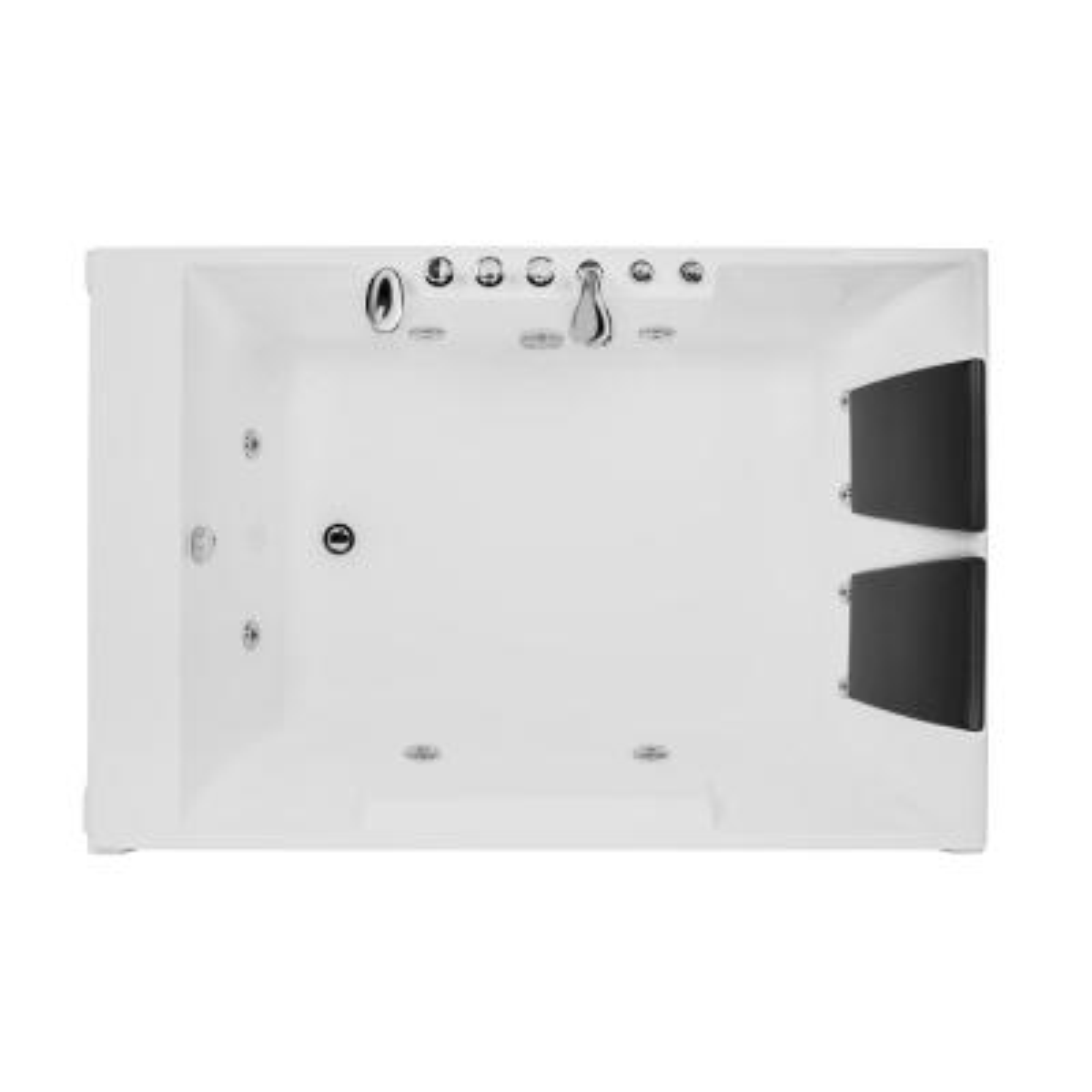 72 in. Acrylic Left Drain Rectangular Alcove Whirlpool Bathtub in White