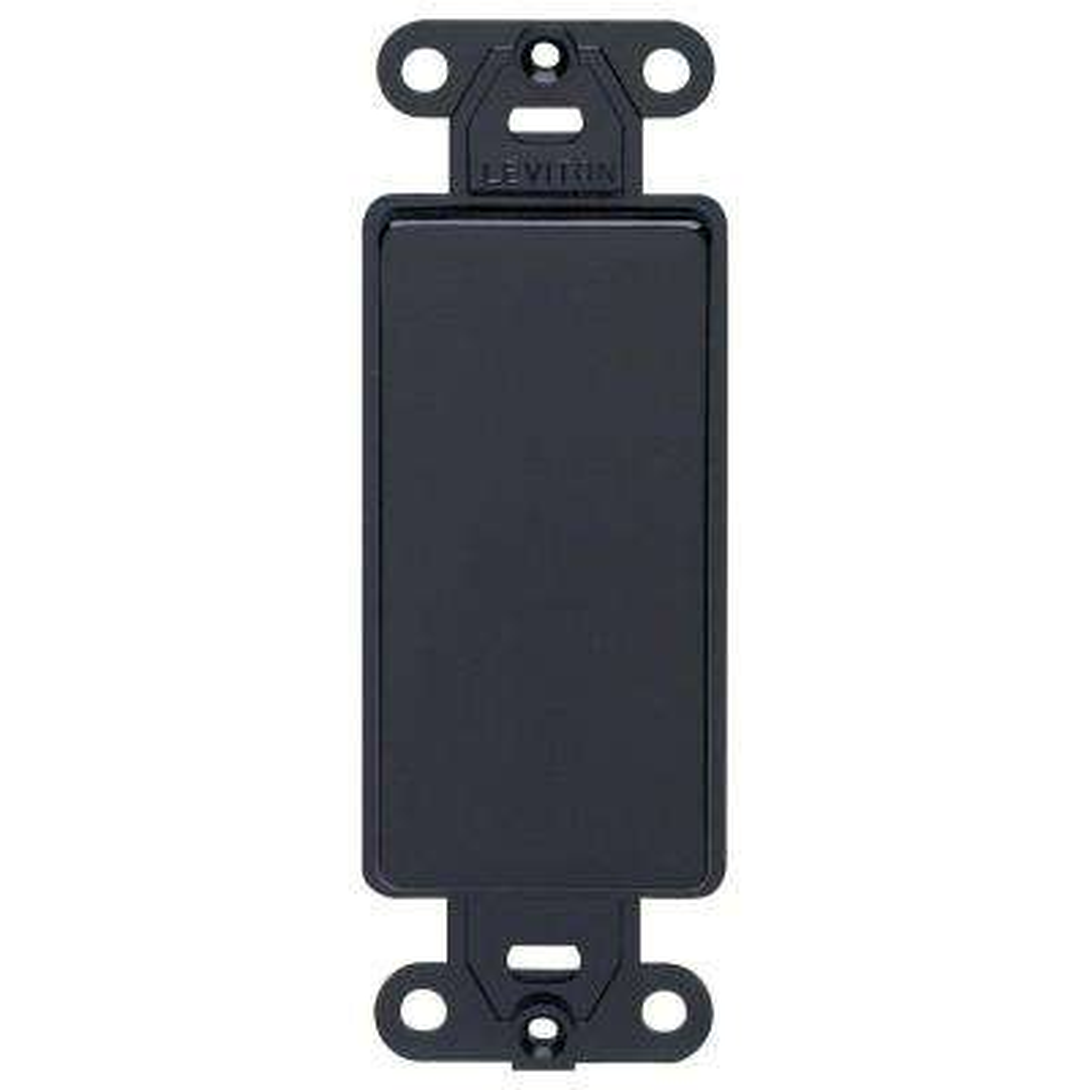 Decora Plastic Adapter Blank No Hole, Black