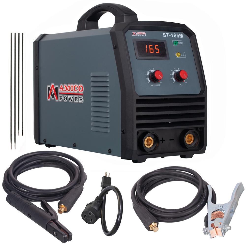 Amico 165 Amp Stick/ARC/Lift-Tig 2-in-1 DC Inverter Welder 115/230-Volt Dual Voltage Welding Machine New