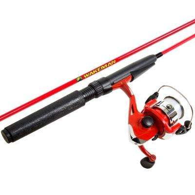 Spawn Series Spinning Combo and Tackle Set in Fire Red
