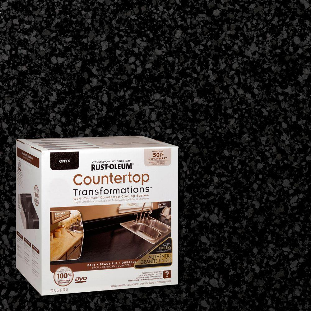 Rust-Oleum Transformations 70 oz. Onyx Large Countertop Kit-258284 ...