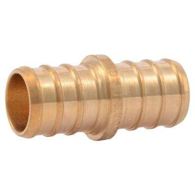 5/8 in. PEX Barb Brass Coupling Fitting