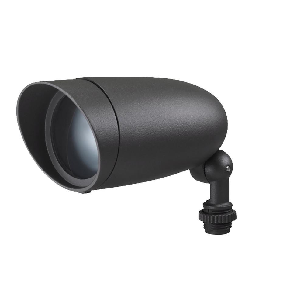 6-Watt Dark Gray Outdoor Integrated LED Flood Light