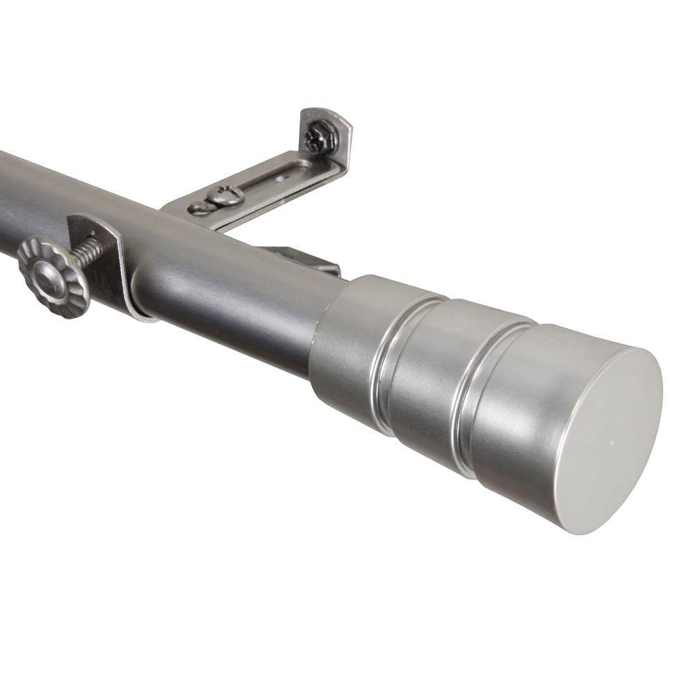 66 in. - 120 in. Satin Nickel Telescoping Curtain Rod Kit