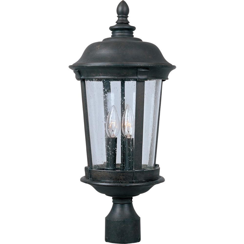Maxim Lighting Dover Dc 3 Light Bronze Outdoor Pole Post Mount