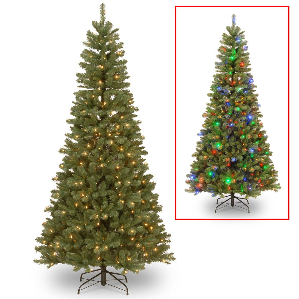 Home Accents Holiday 7 5 Ft Blue Dixie Pine Pre Lit Led
