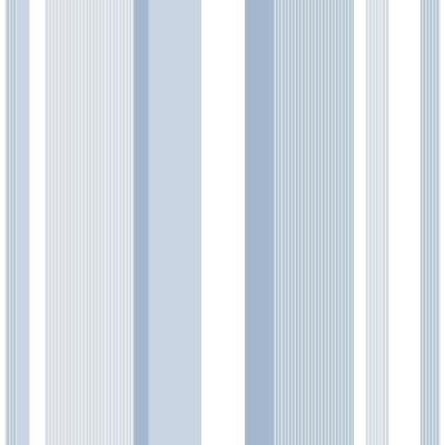 Blue Awning Stripe Vinyl Strippable Wallpaper (Covers 30.75 sq. ft.)