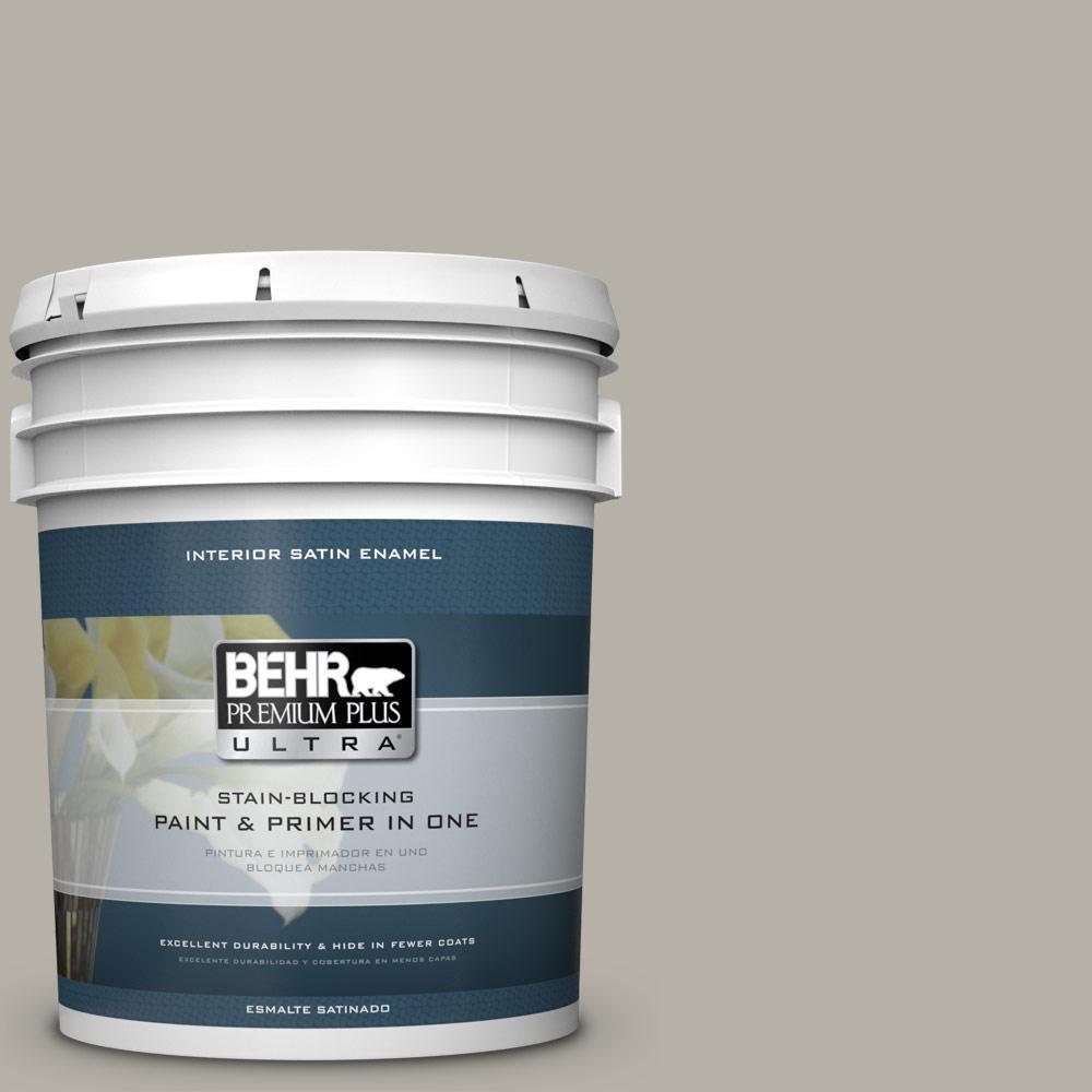 5 gal. #HDC-CL-27G Rushmore Gray Satin Enamel Interior Paint