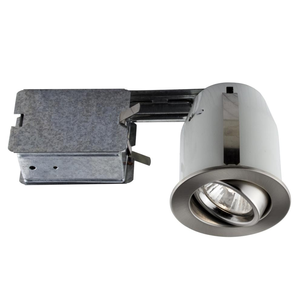 300 Series 4 in. Brushed Chrome Recessed Halogen Interior Applications Light