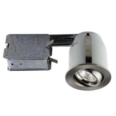300 Series 4 in. Brushed Chrome Recessed Halogen Interior Applications Light Fixture Kit