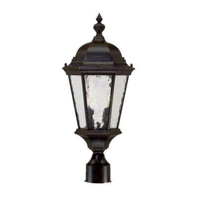 Telfair 2-Light Marbleized Mahogany Outdoor Post-Mount Light Fixture