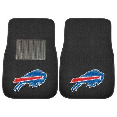 NFL - Buffalo Bills 17 in. x 25.5 in. 2-Piece Set of Embroidered Car Mat