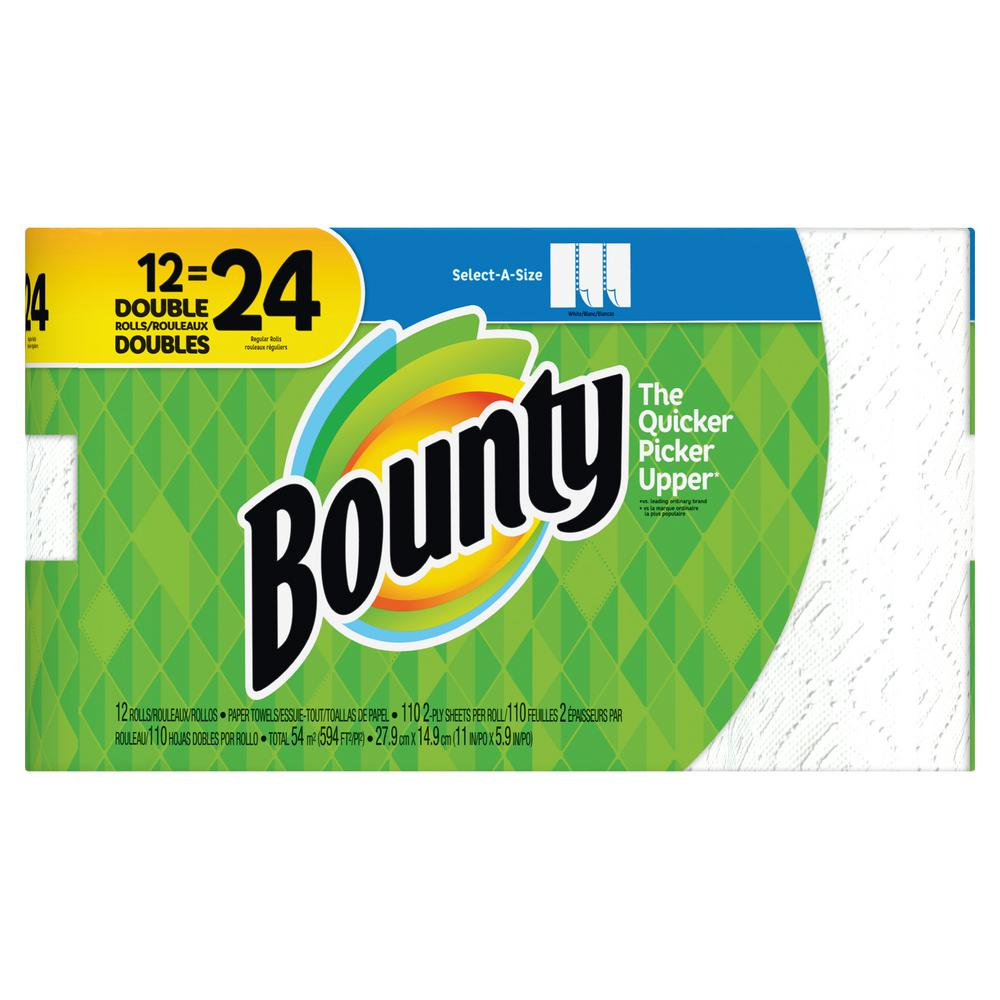 Bounty Select-A-Size White Paper Towels (12-Double Rolls)