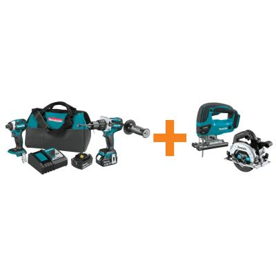 18-Volt LXT Brushless 2-Piece Combo Kit with Bonus 18-Volt LXT Brushless 6-1/2 in. Circular Saw and 18-Volt LXT Jig Saw