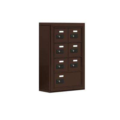 19000 Series 17.5 in. W x 25.5 in. H x 6.25 in. D 6 A / 1 B Doors S-Mount Resettable Locks Cell Phone Locker in Bronze