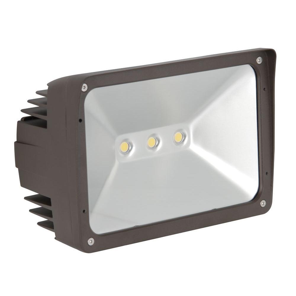 ADL Lumin 50-Watt Bronze Outdoor LED Flood Light