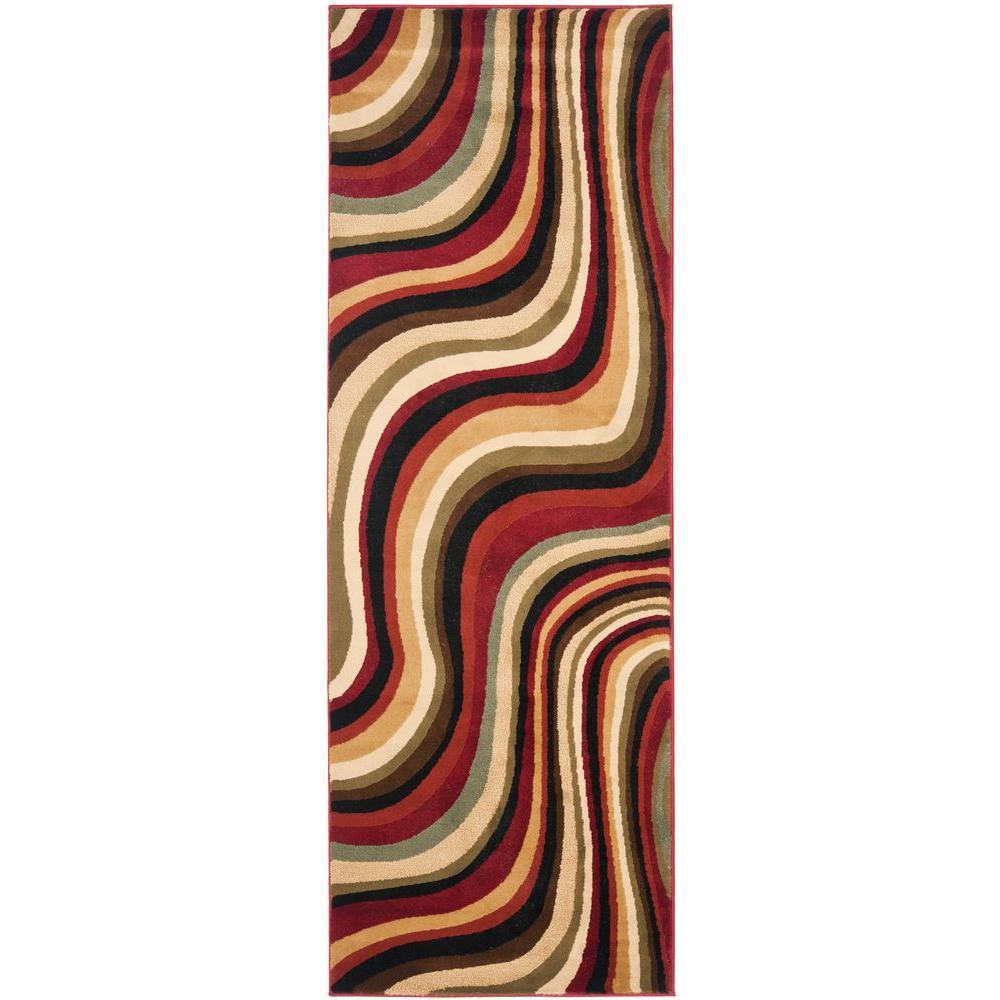 Safavieh Porcello Red/Multi 2 ft. 4 in. x 9 ft. Runner