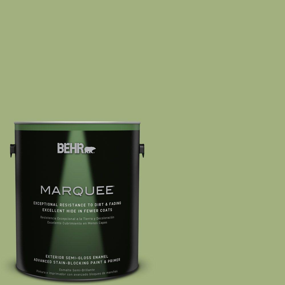 BEHR MARQUEE 1-gal. #M360-5 Fresh Guacamole Semi-Gloss Enamel Exterior Paint