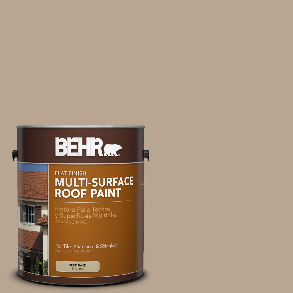 1 gal. #RP-14 Natural Shake Flat Multi-Surface Roof Paint