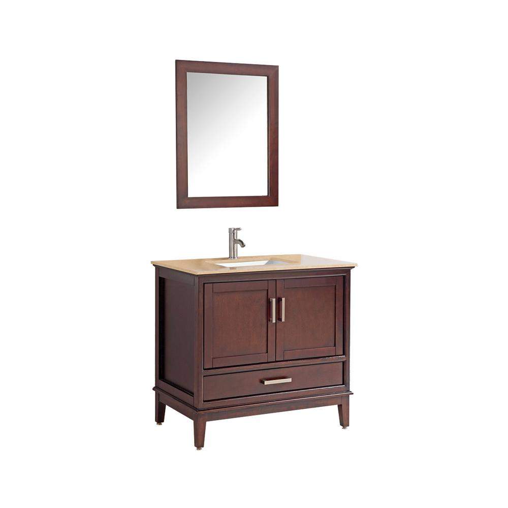 kitchen cabinets in lowes 36 in w x 22 in d x 36 in h vanity in tobacco 6136