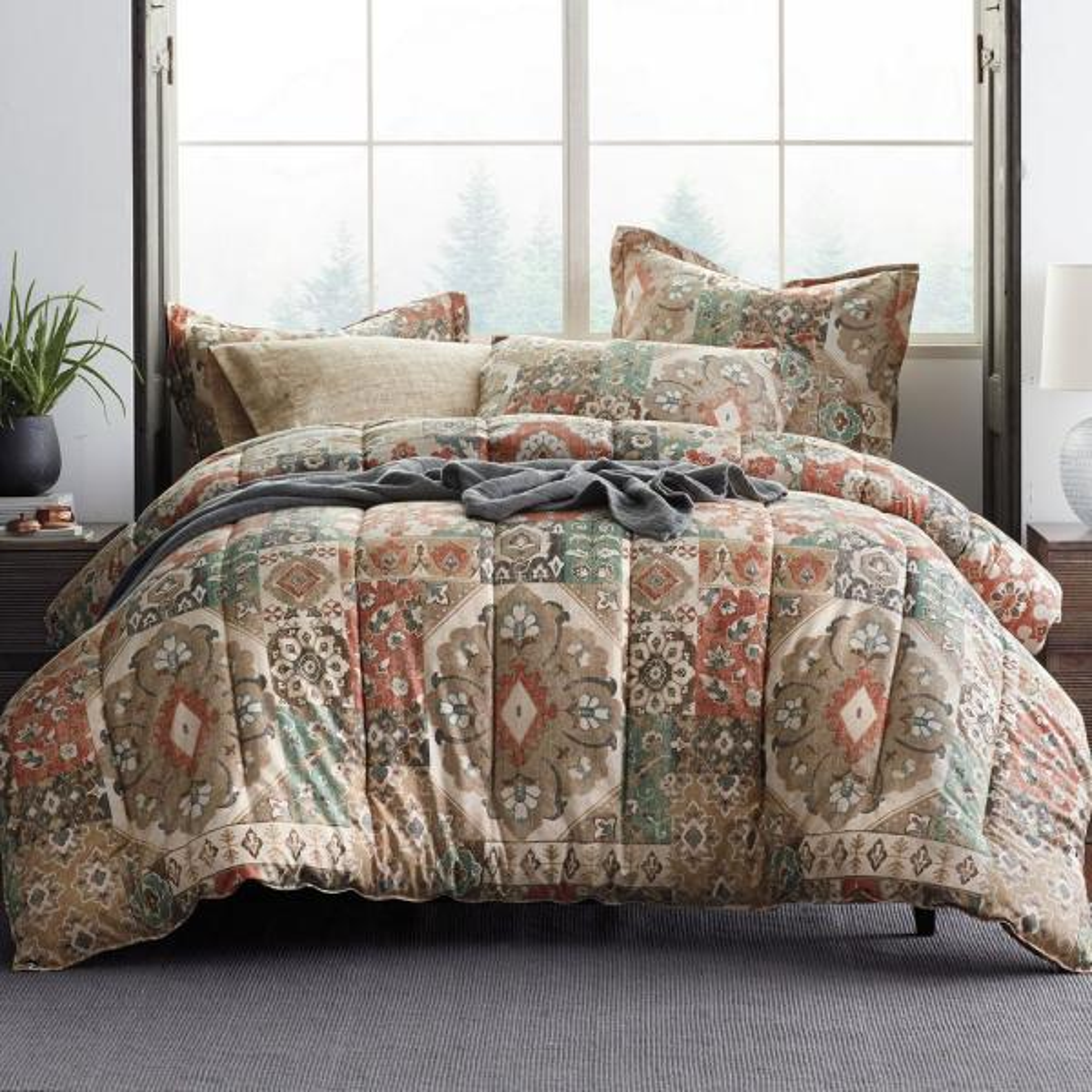 The Company Store Ankara Floral King Comforter 50229E-K-MULTI