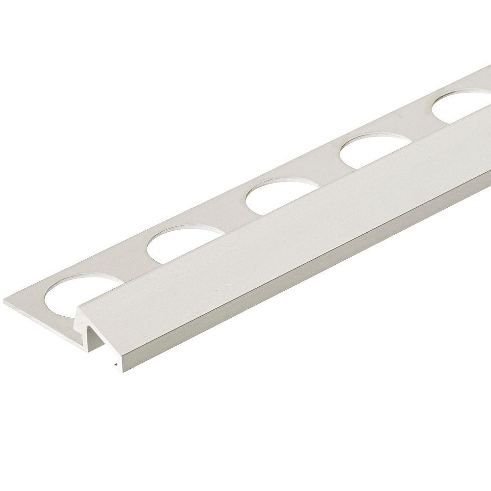 Satin Silver 5/16 in. x 98-1/2 in. Aluminum U-Reducer Tile Edging