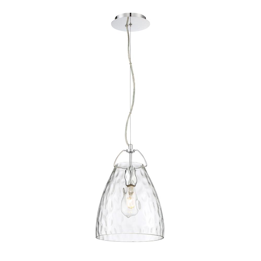 best service 6bf47 b8de4 Easylite Amero 1-Light Chrome Pendant with Clear Glass Shade