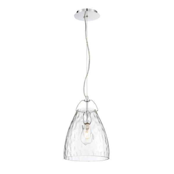 Amero 1-Light Chrome Pendant with Clear Glass Shade