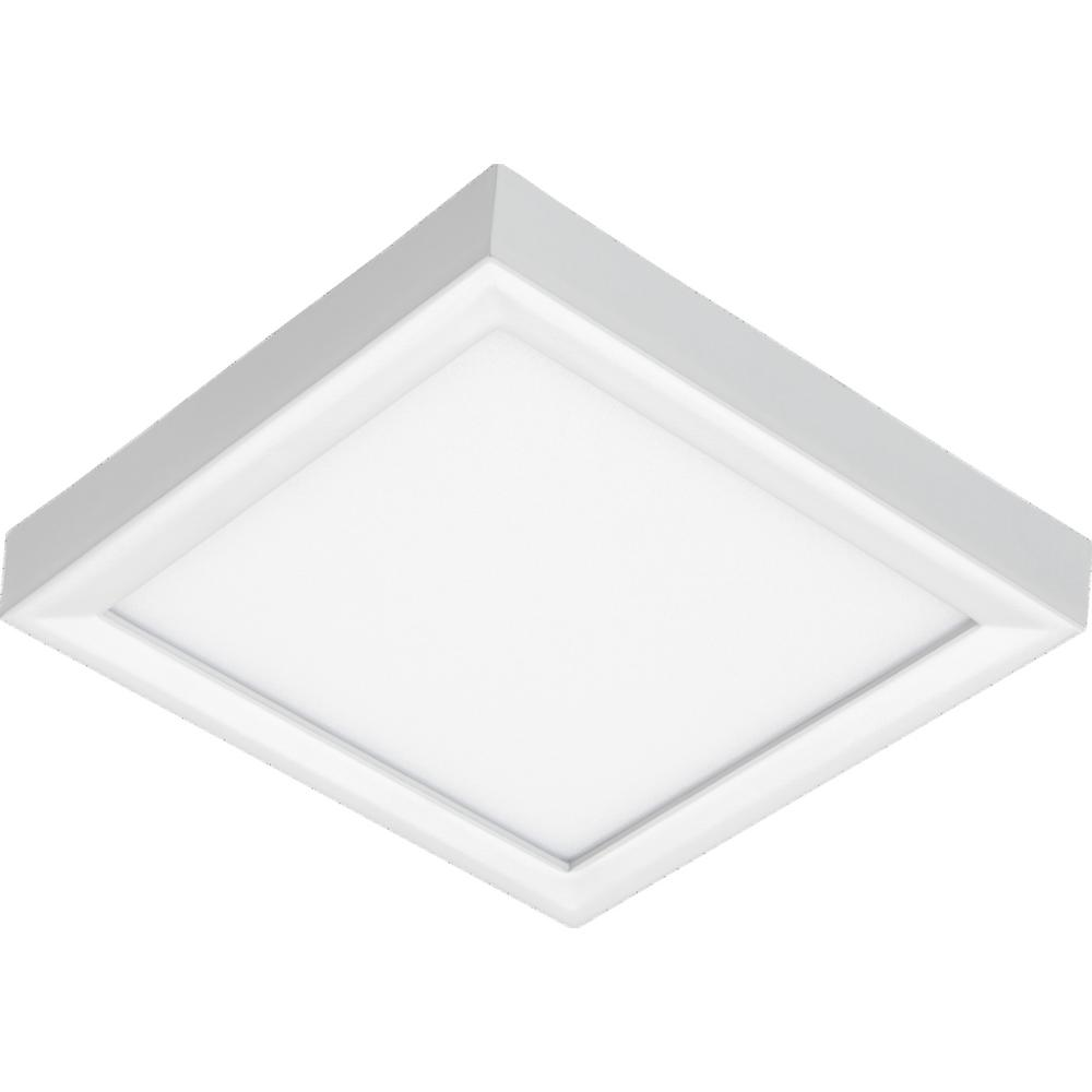 Juno Lighting Juno Slimform Led 5 In 10 Watts 3000k Square Surface Mount Downlight For J Box Installation In Dimmable White