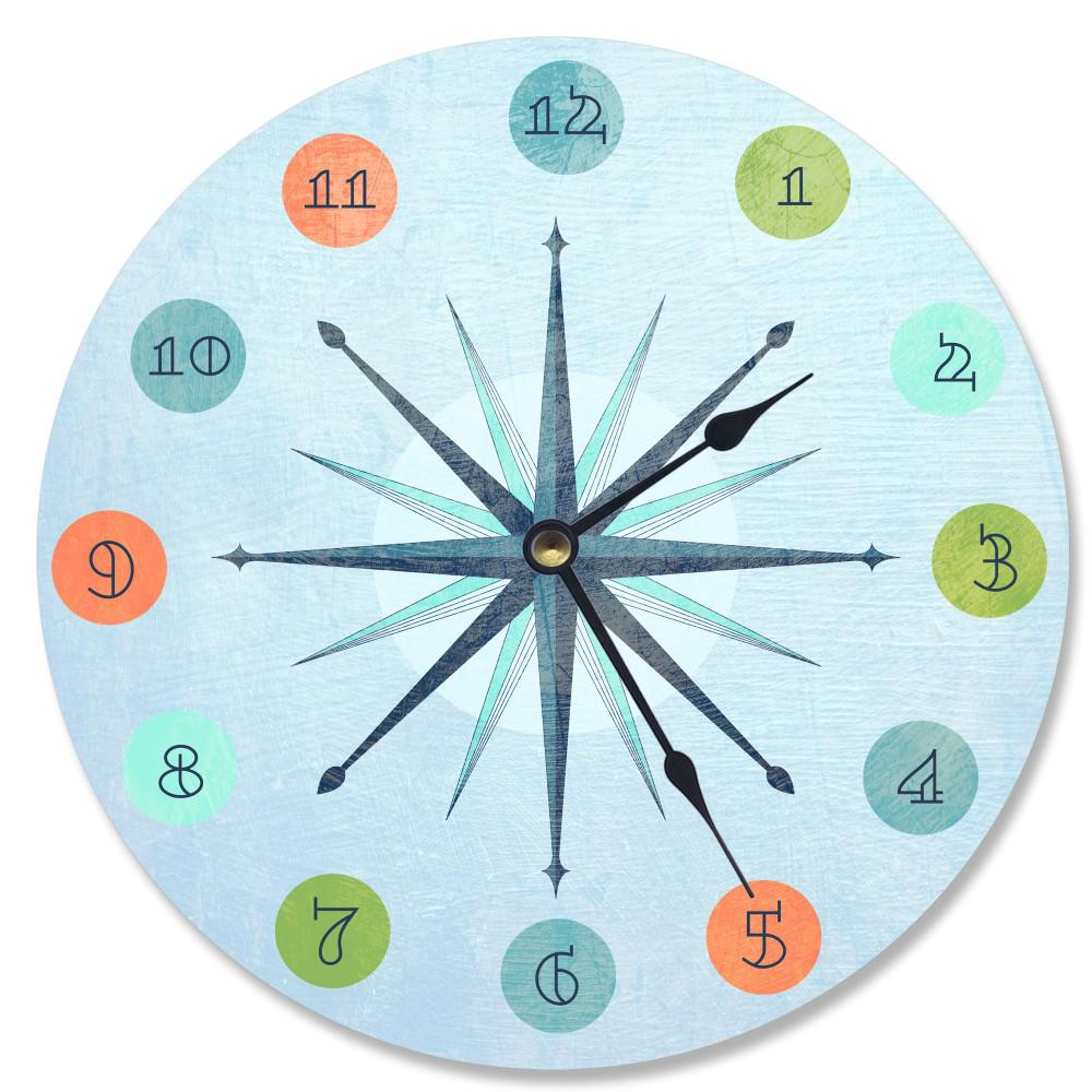 """Vintage Atomic Age"" by Daphne Polselli Wall Clock"
