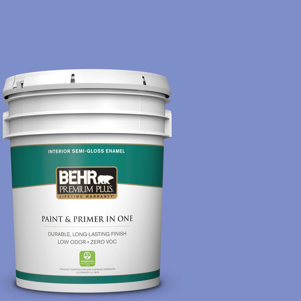 Behr Premium Plus 5 Gal P540 5 Pansy Garden Semi Gloss Enamel Zero Voc Interior Paint And
