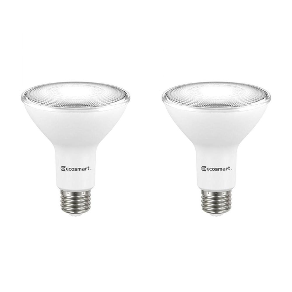 ECOSMART 75-Watt Equivalent PAR30 Dimmable Energy Star Flood LED Light Bulb Daylight (2-Pack)