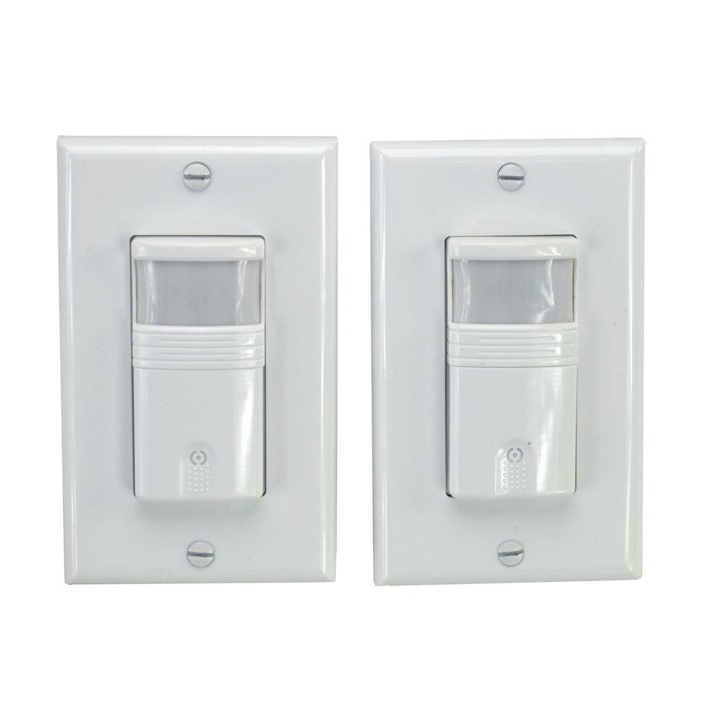 Bathroom Occupied Indicator Light: HomeSelects 120-Volt Occupancy/Vacancy PIR Sensor Wall